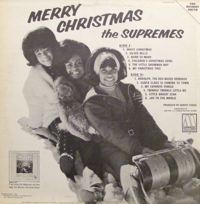 Supremes-Merry Christmas Cover Back