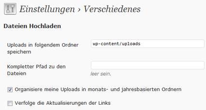 WordPress-Upload-Verzeichnis-einstellen